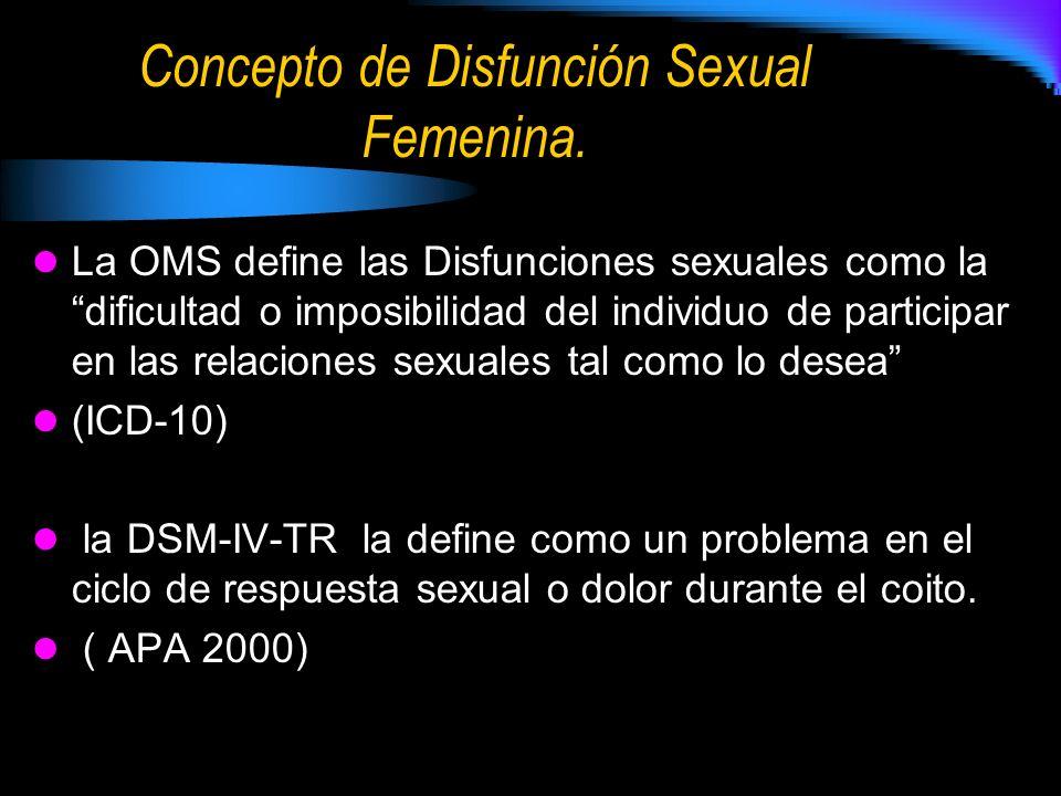 Concepto de Disfunción Sexual Femenina.