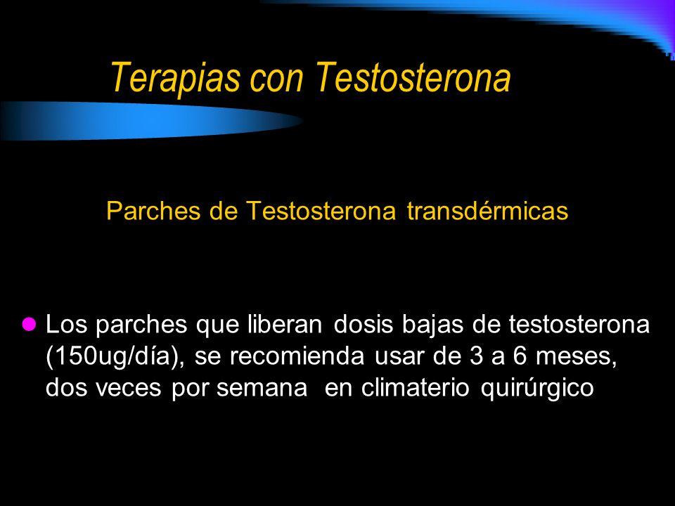 Terapias con Testosterona