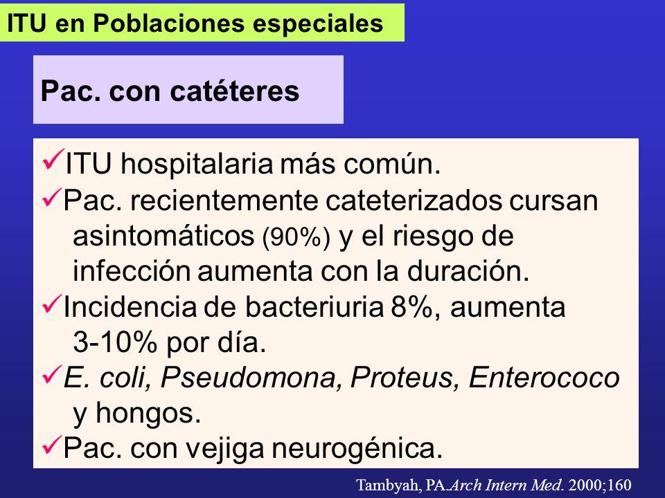 ITU hospitalaria más común.