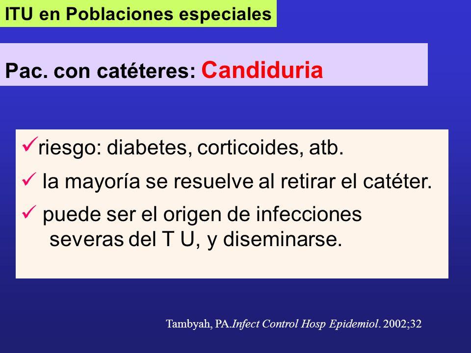 riesgo: diabetes, corticoides, atb.