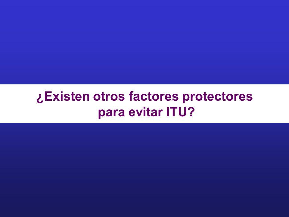 ¿Existen otros factores protectores para evitar ITU