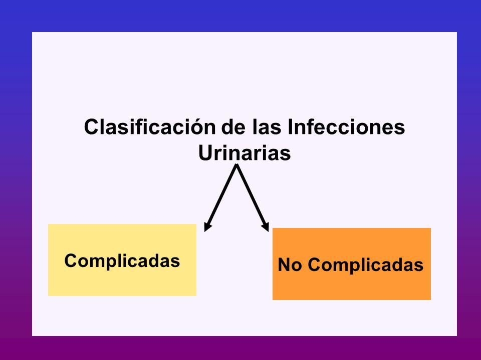 Clasificación de las Infecciones Urinarias