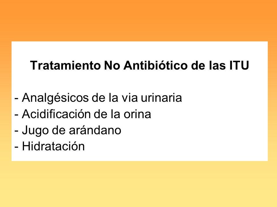 Tratamiento No Antibiótico de las ITU