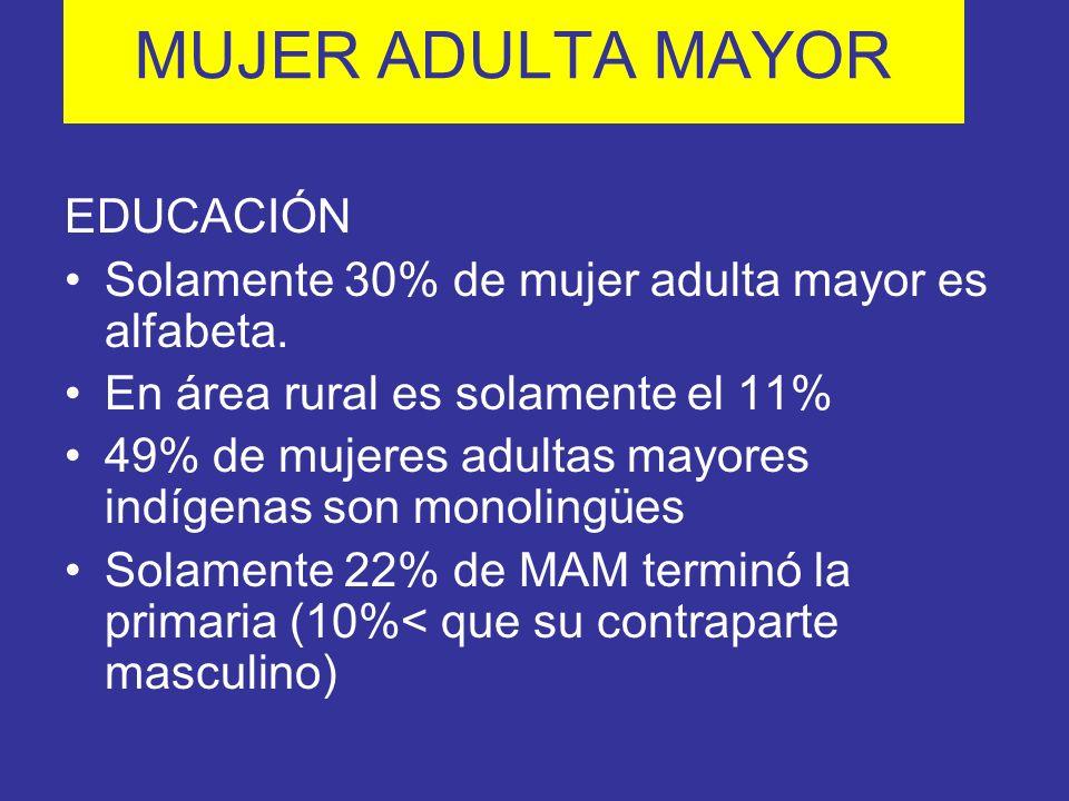 MUJER ADULTA MAYOR EDUCACIÓN