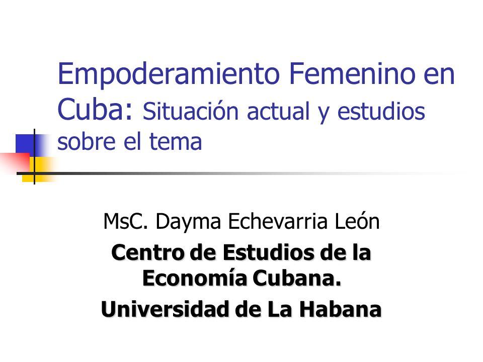Centro de Estudios de la Economía Cubana. Universidad de La Habana