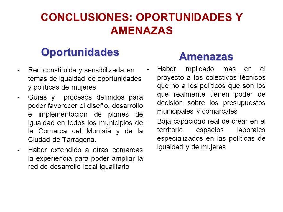 CONCLUSIONES: OPORTUNIDADES Y AMENAZAS