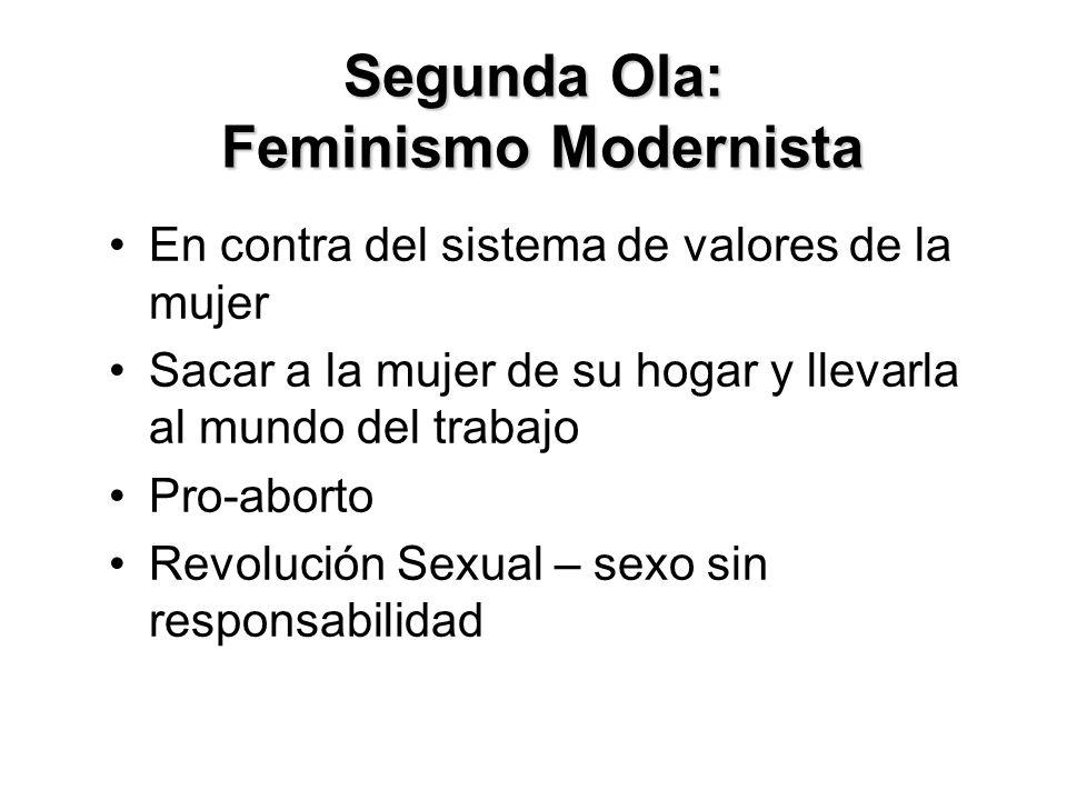 Segunda Ola: Feminismo Modernista