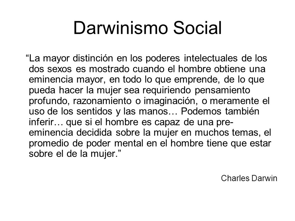 Darwinismo Social