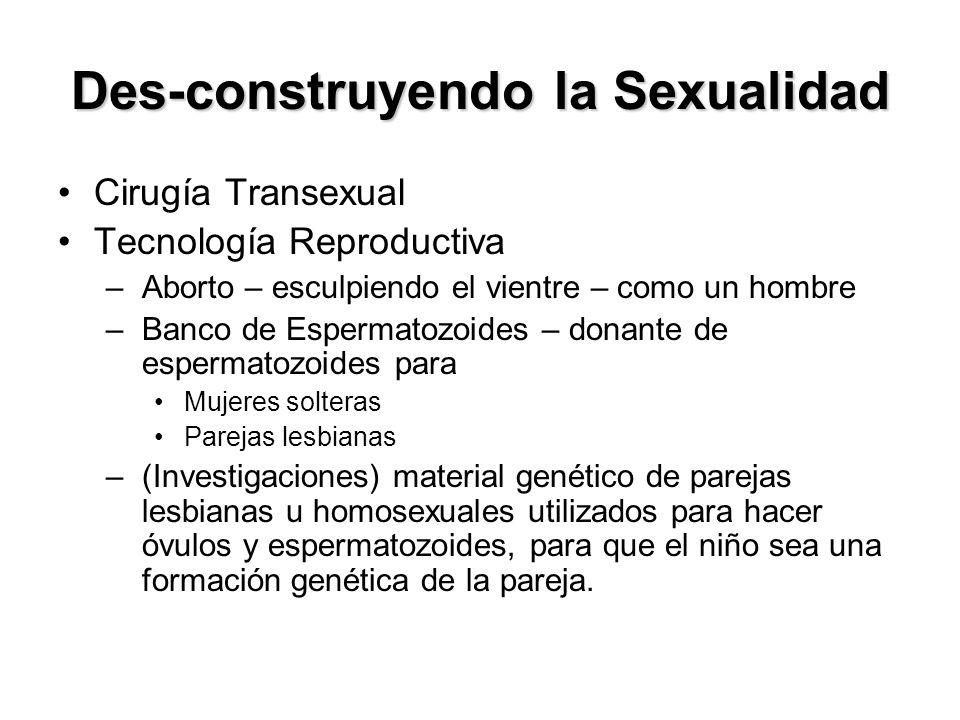 Des-construyendo la Sexualidad