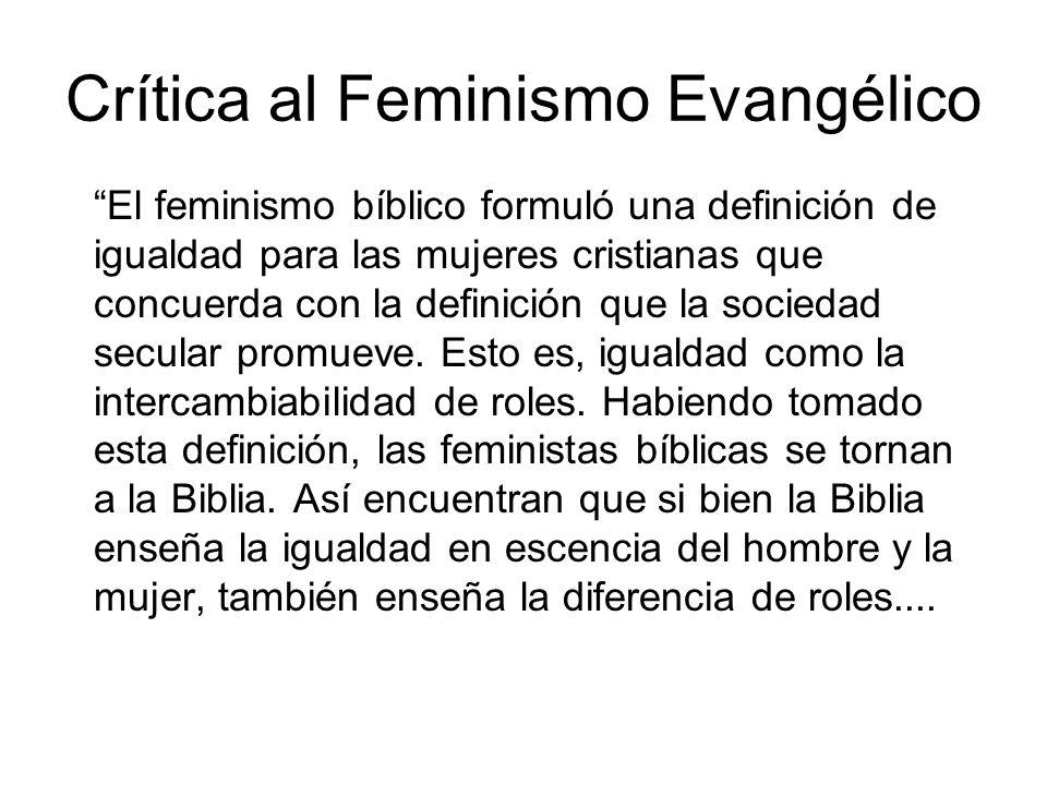 Crítica al Feminismo Evangélico