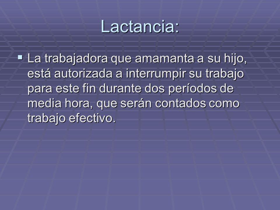 Lactancia: