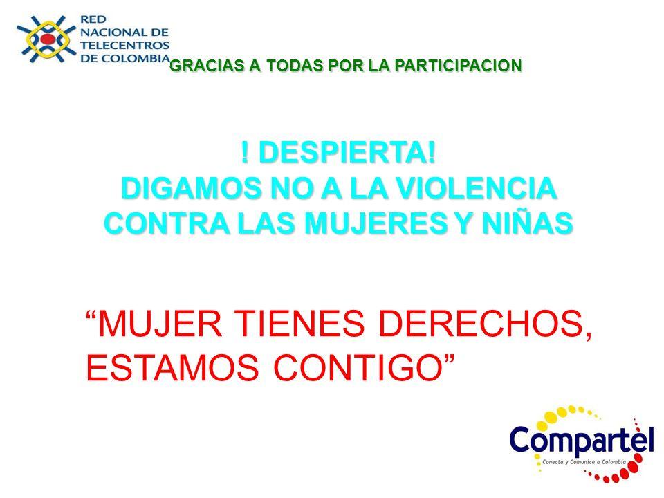 DIGAMOS NO A LA VIOLENCIA CONTRA LAS MUJERES Y NIÑAS