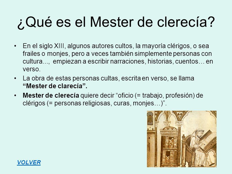 ¿Qué es el Mester de clerecía