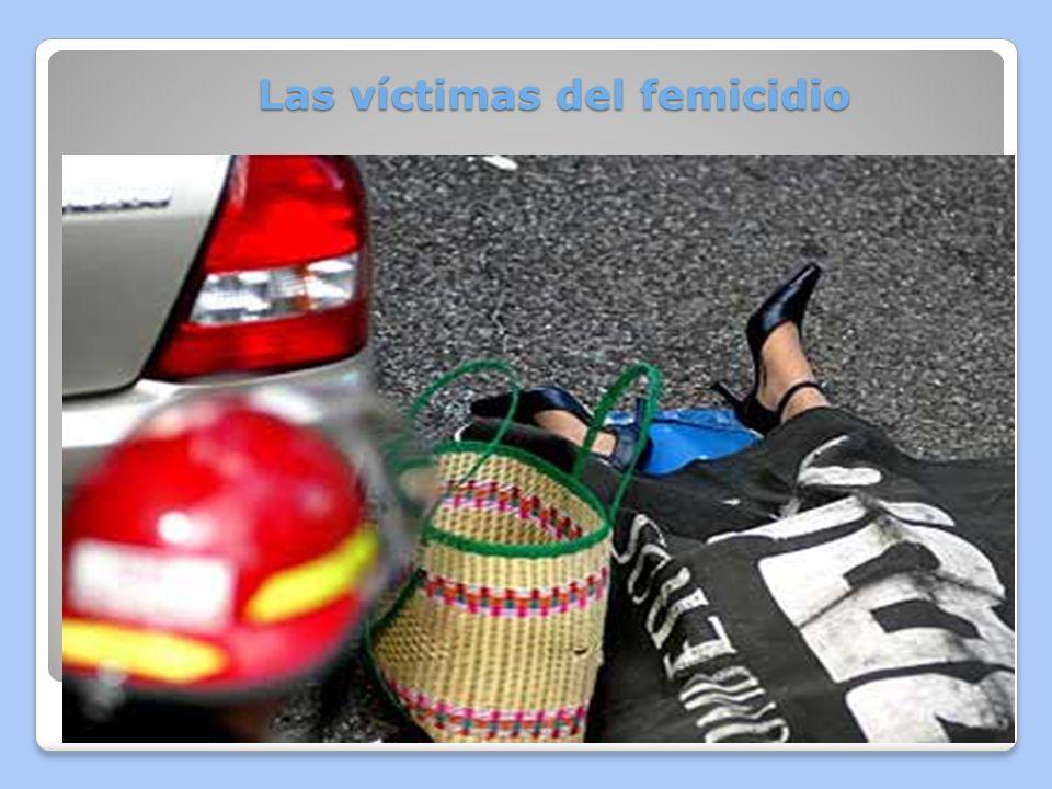 Las víctimas del femicidio