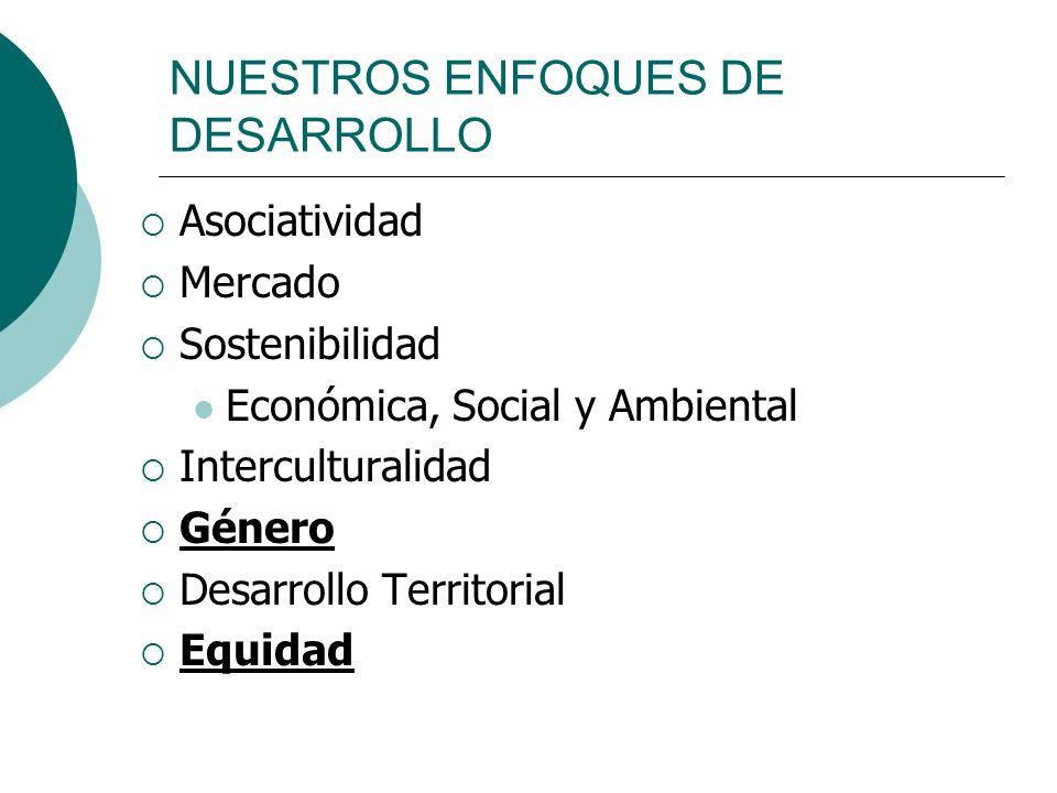 NUESTROS ENFOQUES DE DESARROLLO