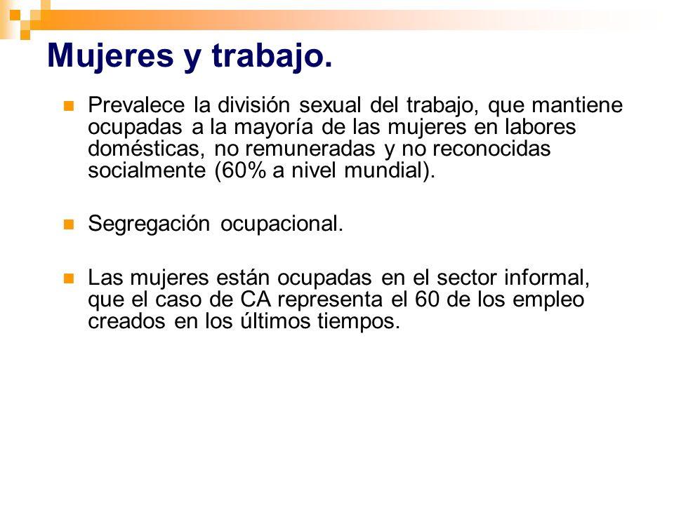 Mujeres y trabajo.