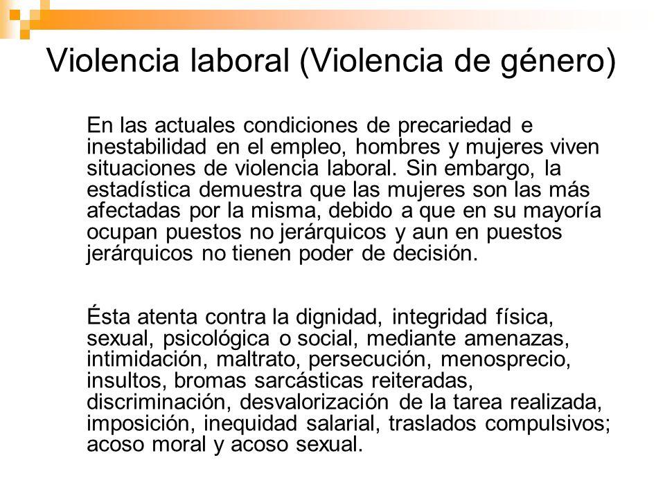 Violencia laboral (Violencia de género)