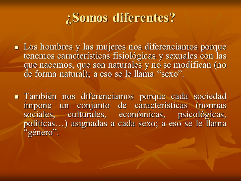 ¿Somos diferentes