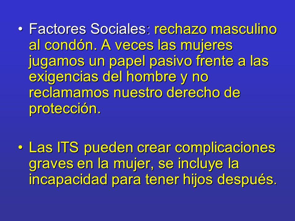 Factores Sociales: rechazo masculino al condón