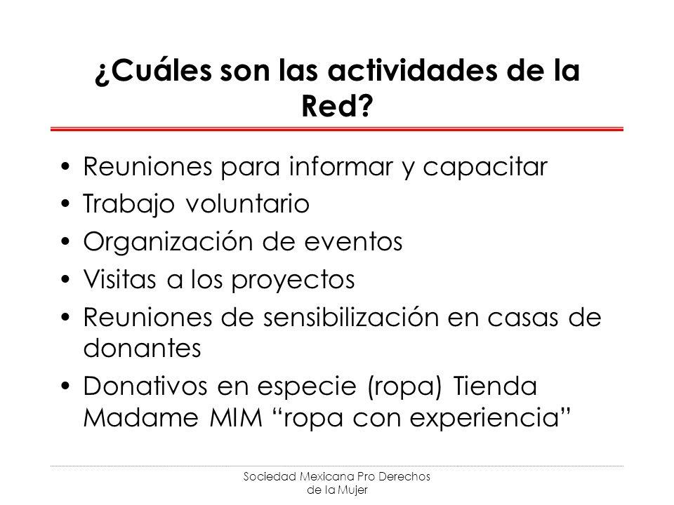 ¿Cuáles son las actividades de la Red