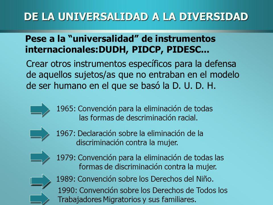 DE LA UNIVERSALIDAD A LA DIVERSIDAD
