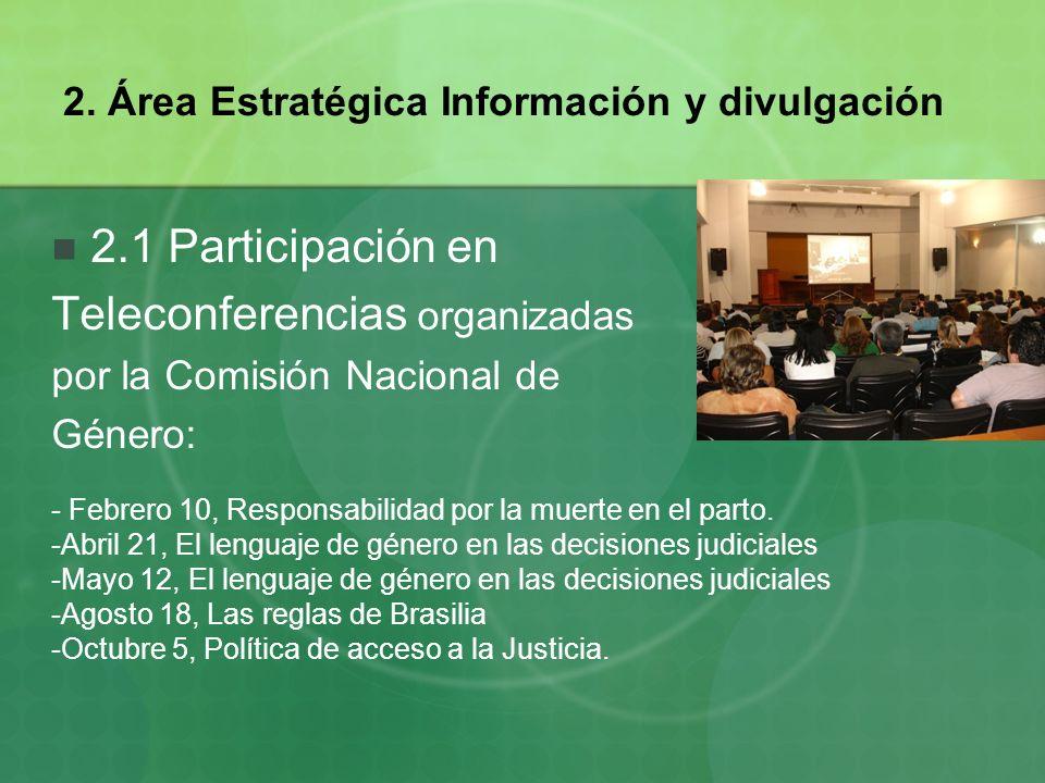 2. Área Estratégica Información y divulgación