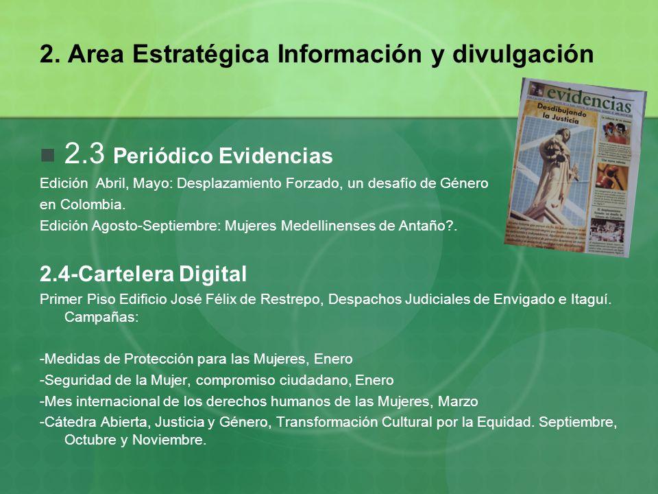 2. Area Estratégica Información y divulgación