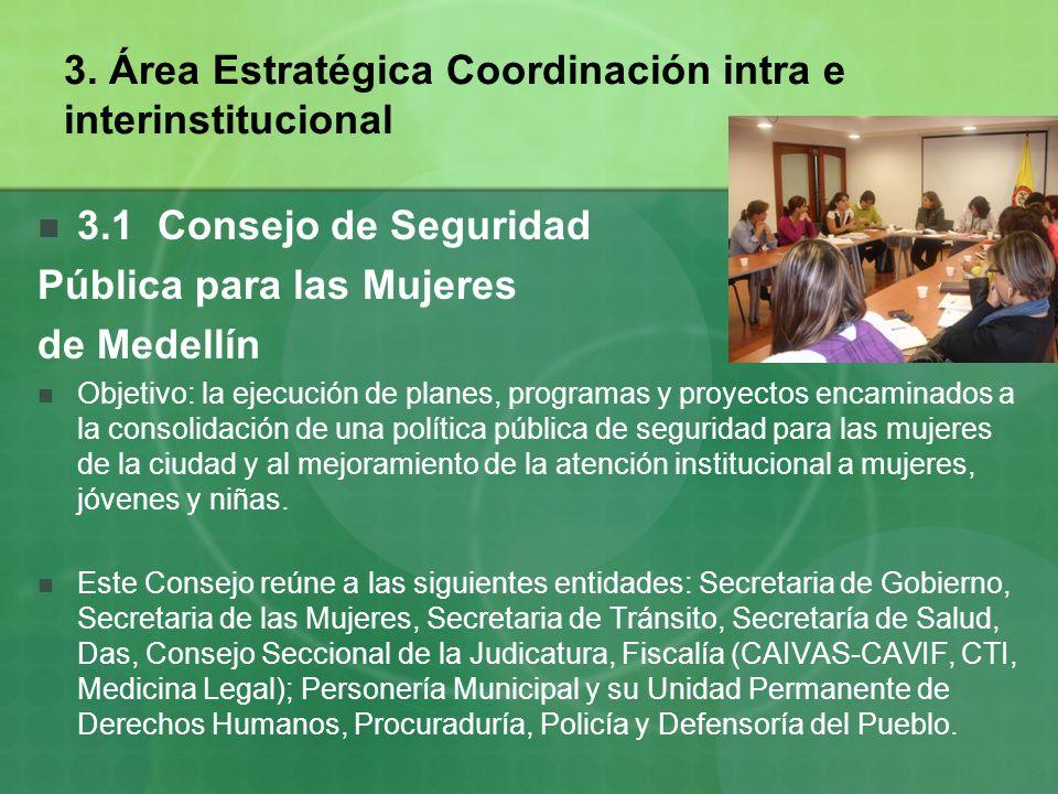3. Área Estratégica Coordinación intra e interinstitucional