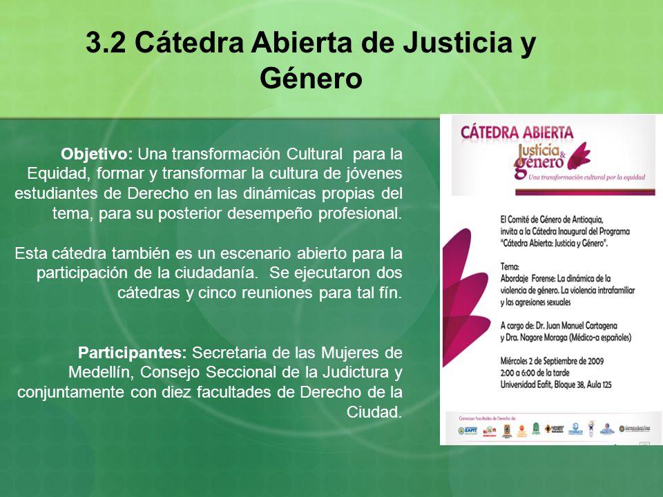 3.2 Cátedra Abierta de Justicia y Género