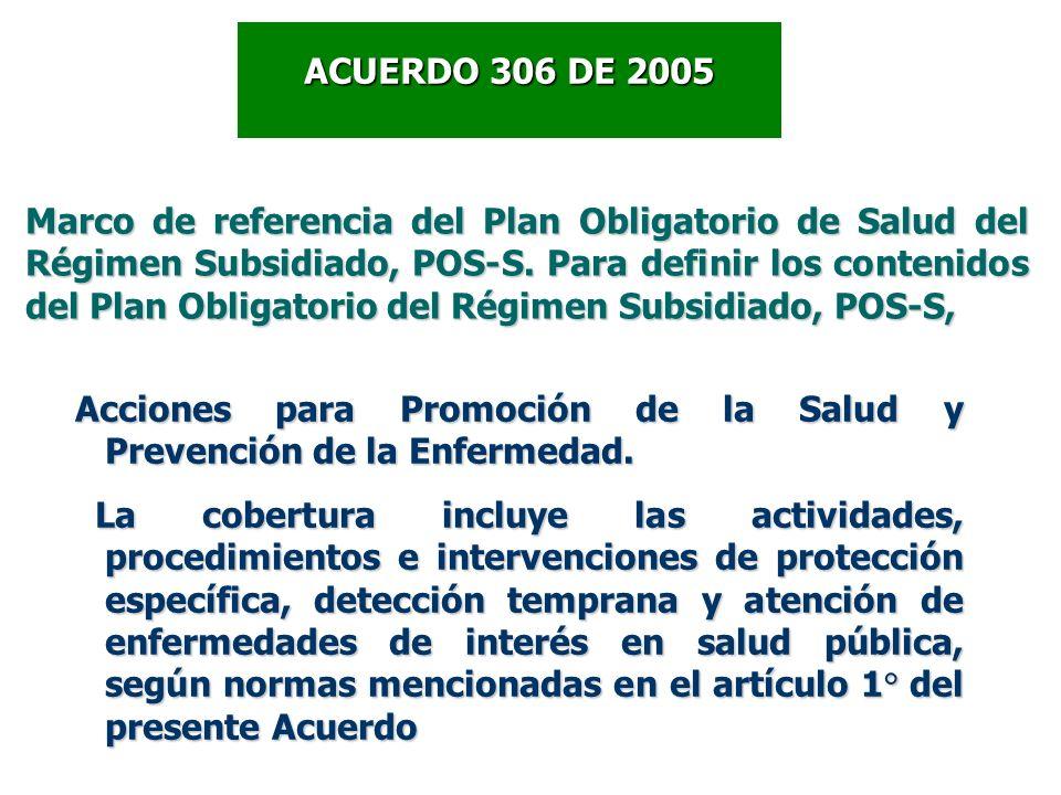 ACUERDO 306 DE 2005