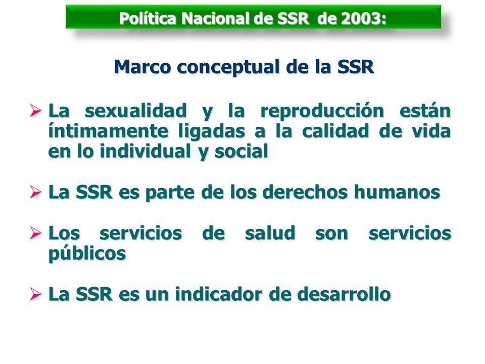 Política Nacional de SSR de 2003: