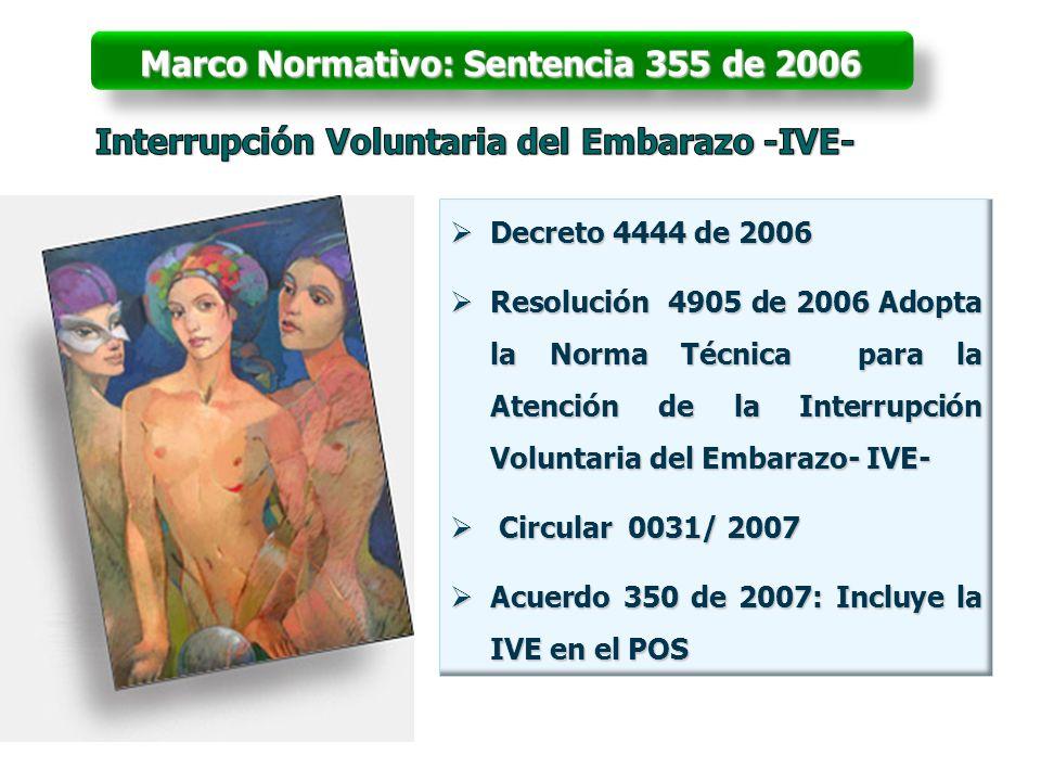 Marco Normativo: Sentencia 355 de 2006