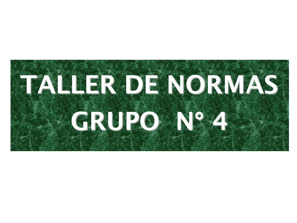TALLER DE NORMAS GRUPO N° 4