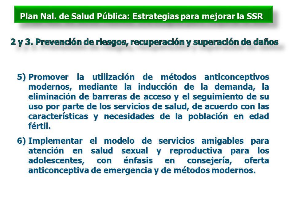 2 y 3. Prevención de riesgos, recuperación y superación de daños