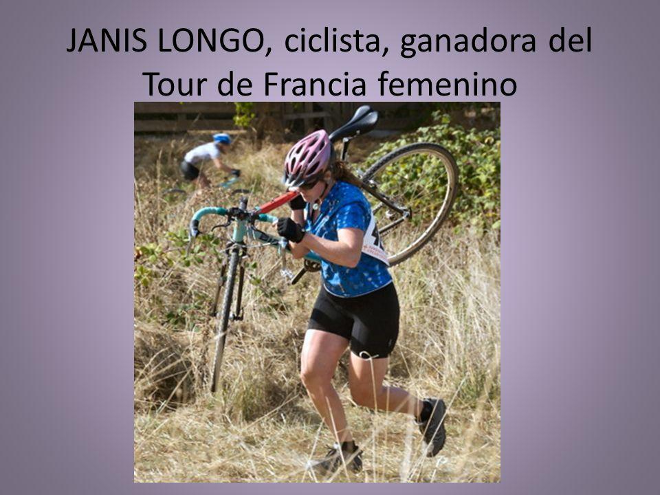 JANIS LONGO, ciclista, ganadora del Tour de Francia femenino