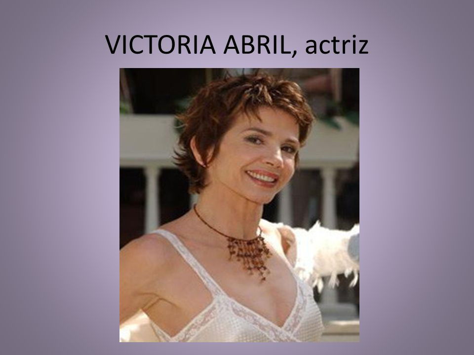 VICTORIA ABRIL, actriz