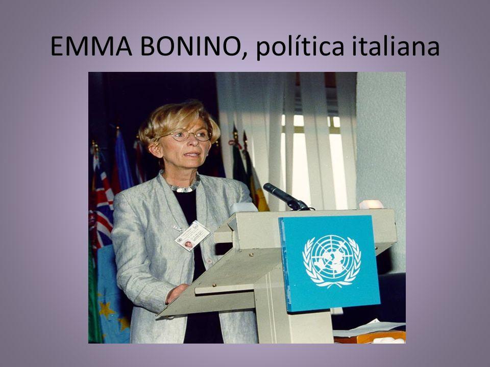 EMMA BONINO, política italiana