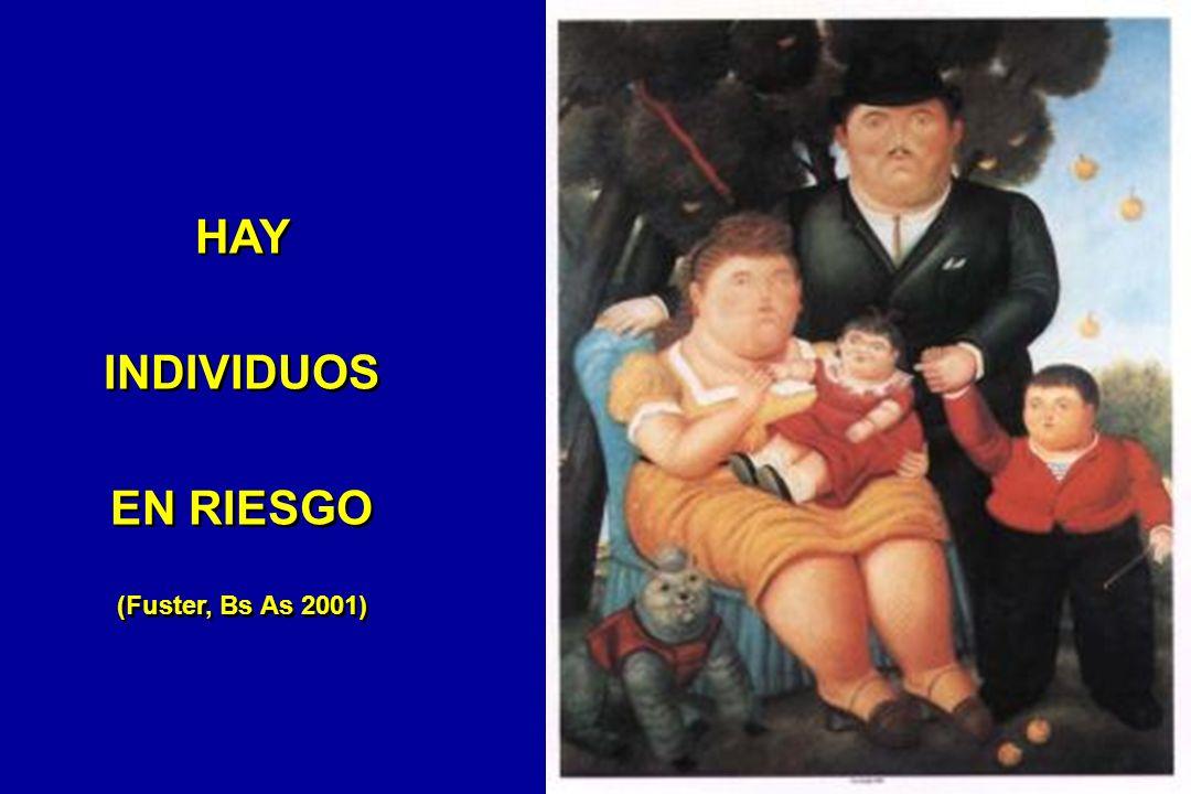 HAY INDIVIDUOS EN RIESGO (Fuster, Bs As 2001)