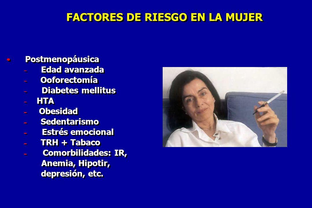 FACTORES DE RIESGO EN LA MUJER FACTORES DE RIESGO EN LA MUJER