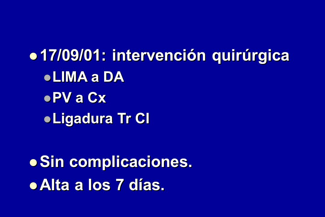 17/09/01: intervención quirúrgica