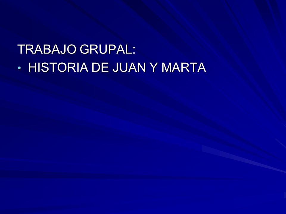 TRABAJO GRUPAL: HISTORIA DE JUAN Y MARTA