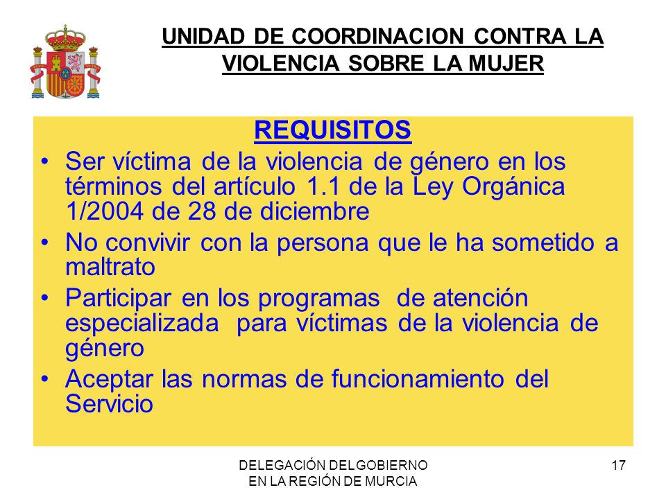 DELEGACIÓN DEL GOBIERNO EN LA REGIÓN DE MURCIA