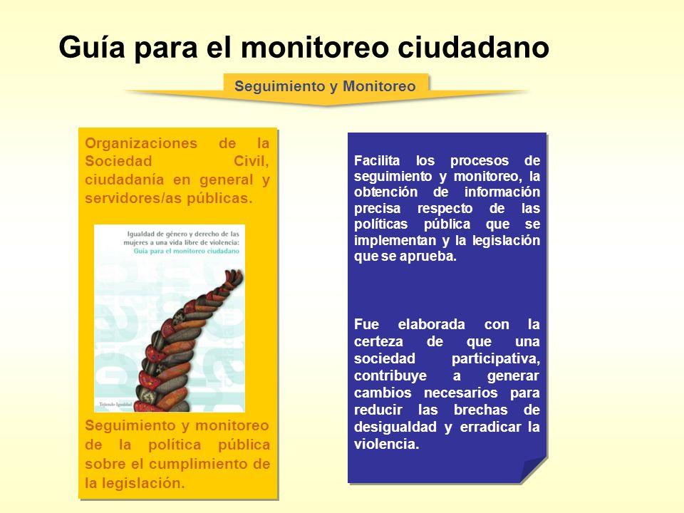 Guía para el monitoreo ciudadano