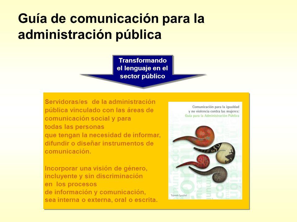 Guía de comunicación para la administración pública