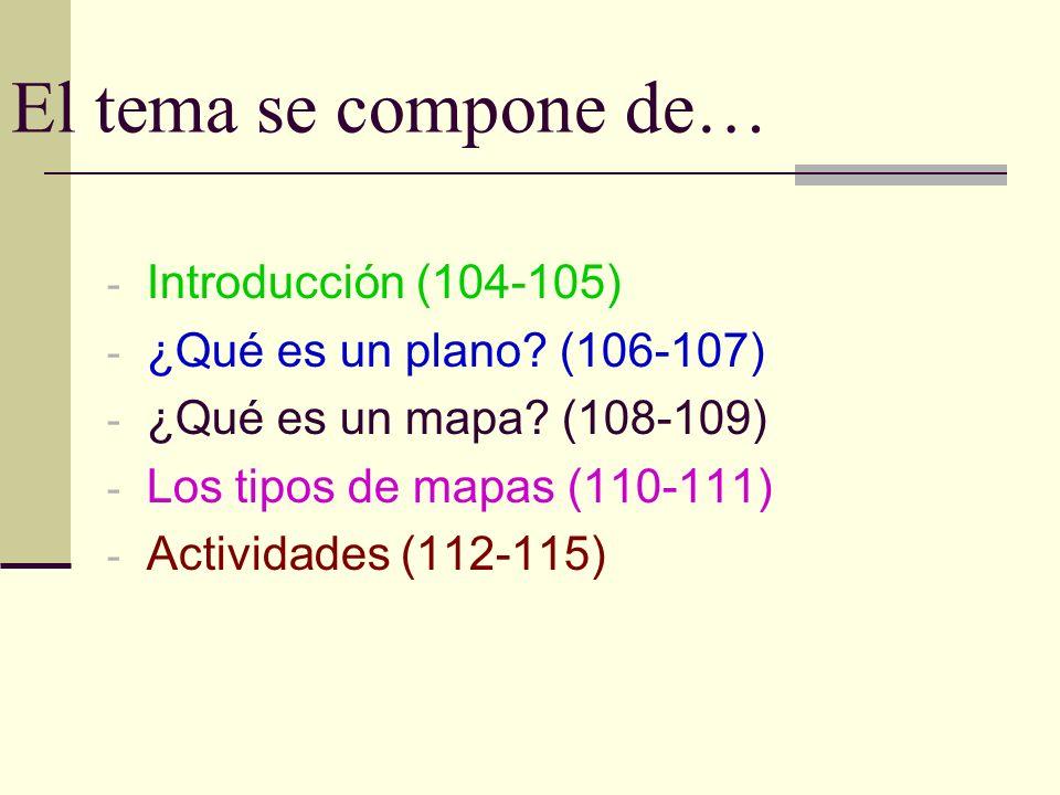 El tema se compone de… Introducción (104-105)