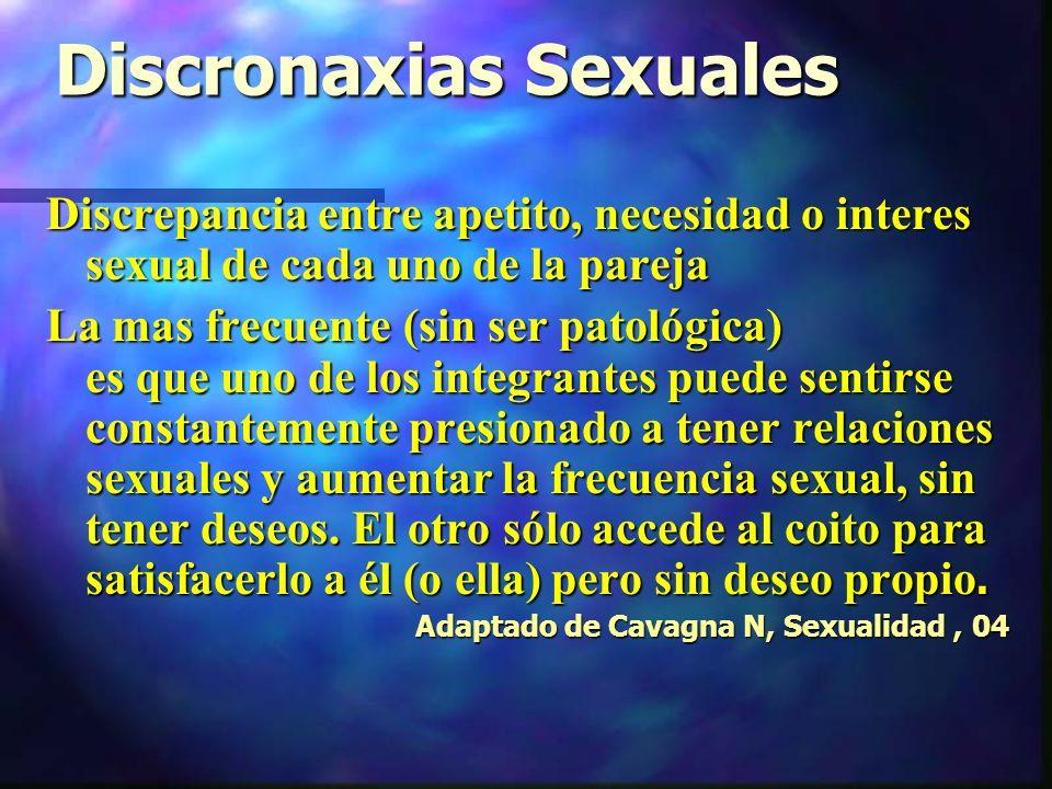 Discronaxias Sexuales