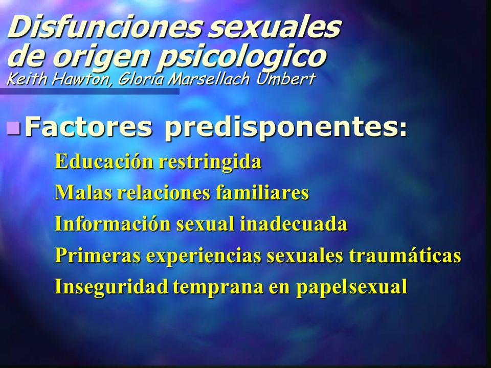 Disfunciones sexuales de origen psicologico Keith Hawton, Gloria Marsellach Umbert