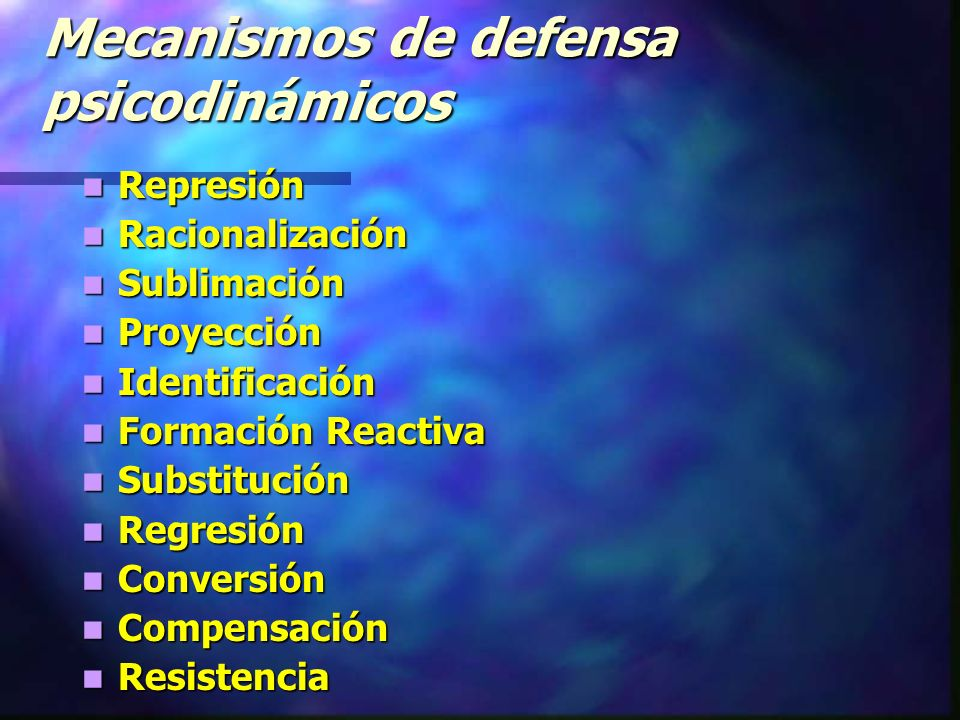 Mecanismos de defensa psicodinámicos