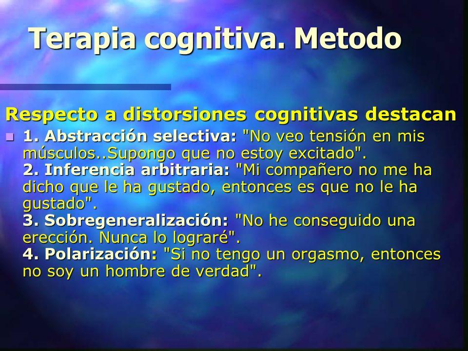 Terapia cognitiva. Metodo