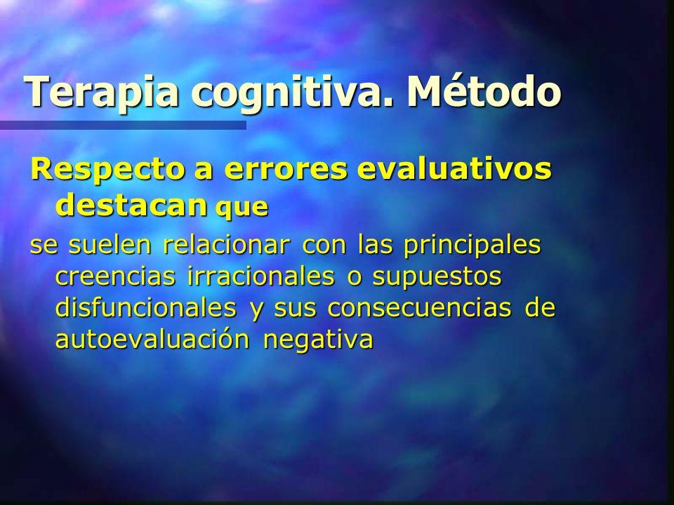 Terapia cognitiva. Método